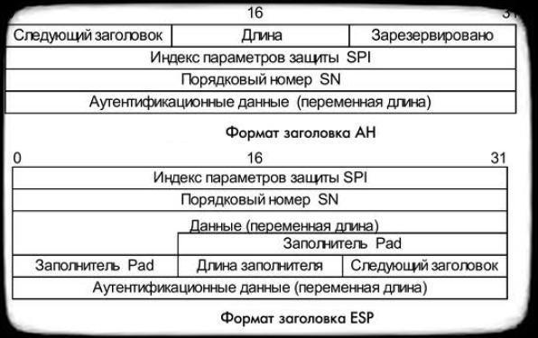 Формат заголовков AH и ESP