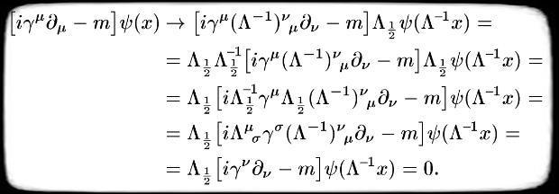 Уравнение дирака лоренц-инвариантно
